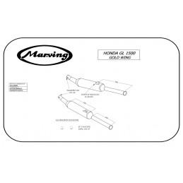 Marving H/2106/BC Honda Gl 1500 Goldwing
