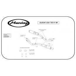 Marving S/2092/NC Suzuki Gsx 750 R 88