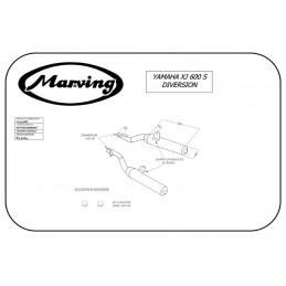 Marving Y/2131/BC Yamaha Xj 600 S Diversion