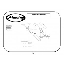 Marving Y/2087/BC Yamaha Fzx 750 Phaser
