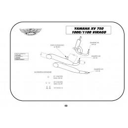 Marving Y/CP04/BC Yamaha Xv 750 Virago