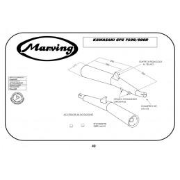 Marving K/2900/NC Kawasaki Gpz 900 R