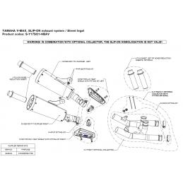 Akrapovic C-Y17SO1T/1 Yamaha V MAX 1700