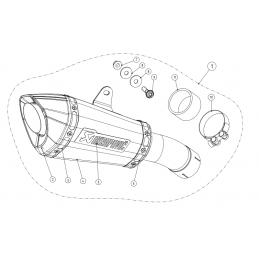 Akrapovic  S-H10SO21-ASZT Honda CB 1000 R
