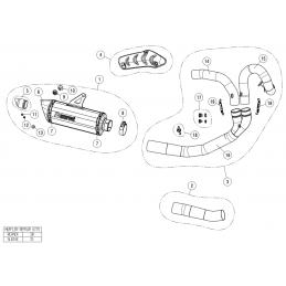 Akrapovic E-D12E1/1 Ducati Monster 821