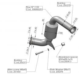 Leovince Supresor Catalizador  KTM RC 125